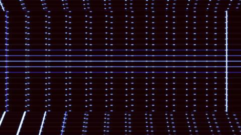 Horizontal blue grid futuristic technology background Animation