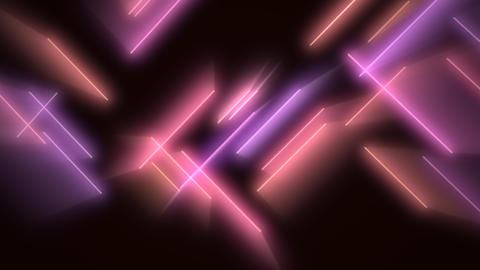 Motion colorful neon lines abstract background Videos animados
