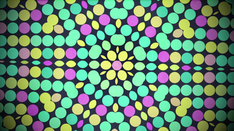 Motion colorful dots pattern, abstract background CG動画