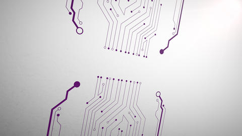 Motion computer chip abstract background Animation