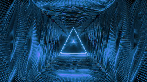 abstract holy glowing triangle wireframe design with metal motion background 3d Animation