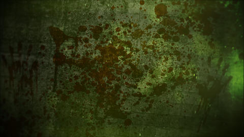 Mystical horror background with dark blood and motion camera Animation