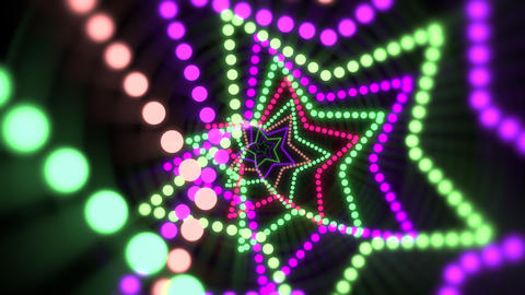 Motion colorful neon stars, abstract background Videos animados