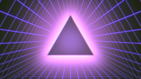 Motion retro triangle abstract background Videos animados