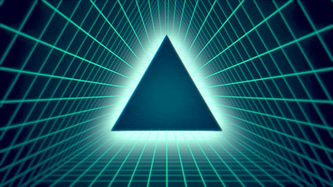 Motion retro green triangle abstract background Videos animados