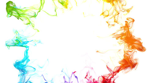 Iridescent multicolored particle shockwave explosion alpha copy space 4k 60 fps Animation