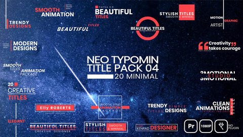 20 Typomin Title Pack 04 MOGRT Motion Graphics Template