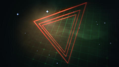 Motion retro triangles abstract background Animation