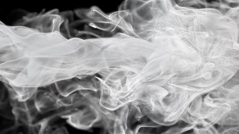 White color paint ink drops in water inky cloud swirling smoke alpha Animation