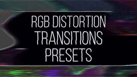 RGB Distortion Transitions Presets Premiere Pro Effect Preset