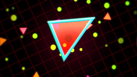 Motion retro red triangles abstract background Animation