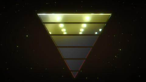 Motion retro yellow triangle abstract background Animation