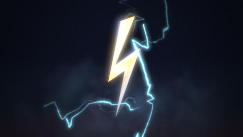 Motion retro thunderbolt abstract background Videos animados