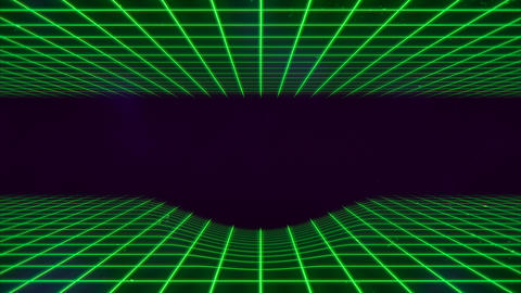 Motion retro green lines in space, abstract background Videos animados