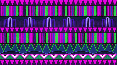 Purple Blue And Green Patterns For Celebrations Move Sideways Endlessly In A Loop Animation
