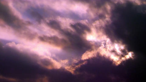 Dramatic Clouds In Purple Colored Skies Seamlessly Looping Video Background Footage