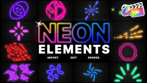 Neon Elements Apple Motion Template