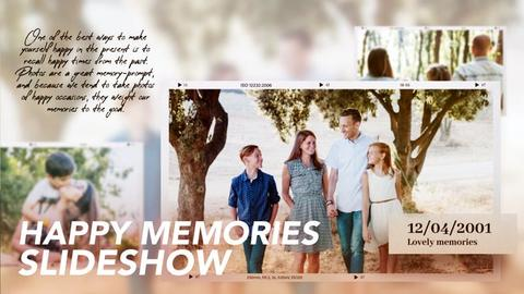 Memories Slideshow Premiere Pro Template