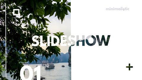 Minimalistic Slideshow Premiere Pro Template