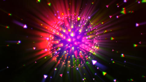 Motion colorful disco ball, abstract background Animation