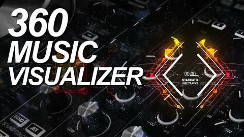 360 Degree Music Visualizer HD and 4K After Effects Template