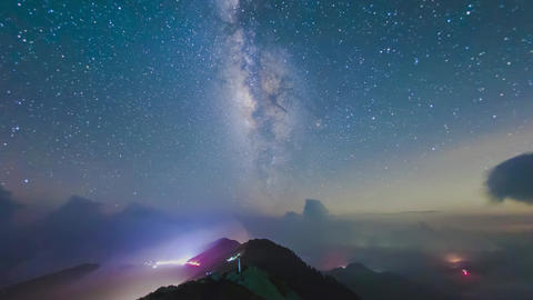 A section from the Milky Way and the Andromeda Galaxy Footage