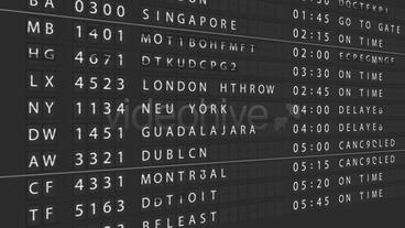 Airport Departure Board After Effects Project