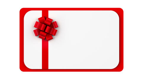 Blank Gift Card Animation Footage