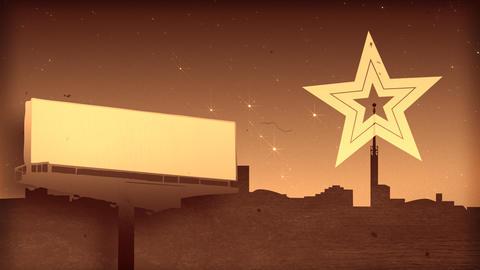 Star shape emission Animation
