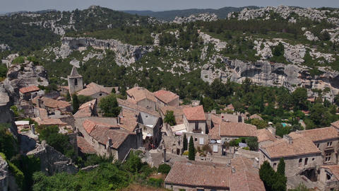 Traditional Old French Village Of Les Baux De Provence France Footage