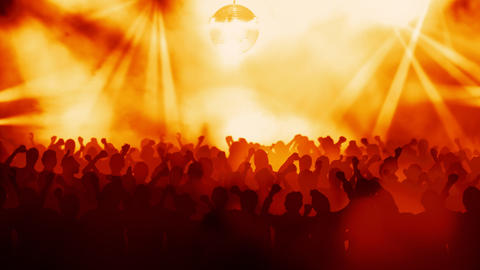 Crowd on a concert Stock Video Footage