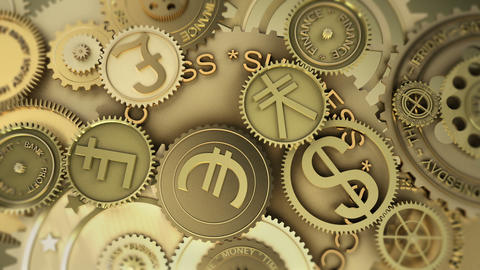 Time is money. Euro currency highlights Animation