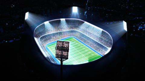 Flashing stadium lights Footage