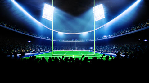 Flashing stadium lights during game Animation