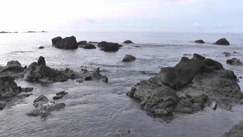 Rocky coast Footage