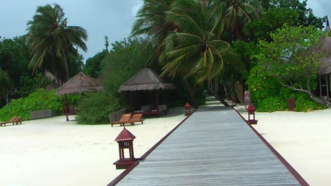 Clips of Maldives - Beach, Water bungalows, Boats Footage