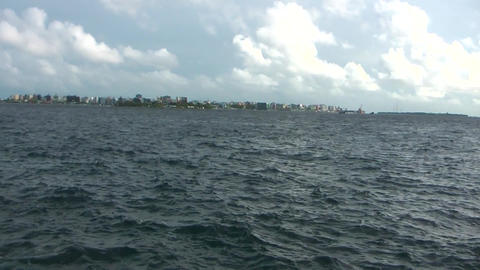 VIEW OF MALE ISLAND MALDIVES Footage