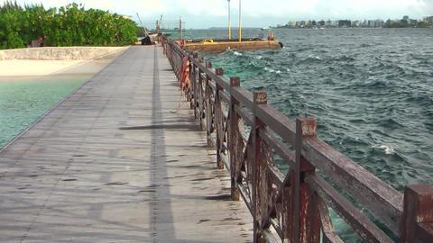 Maldives Promenade walkway Footage