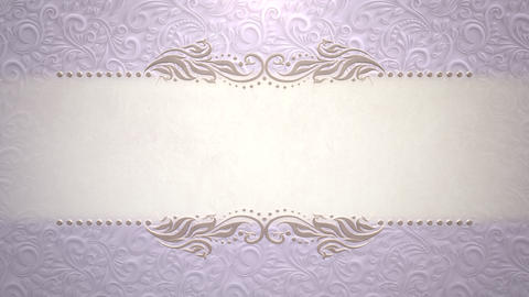Closeup vintage frame with flowers motion, wedding background Videos animados