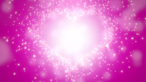 Closeup pink hearts of love, wedding background CG動画