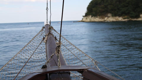 Boat sailing in the sea Live Action