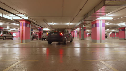 Car parking in underground parking in mall Live Action