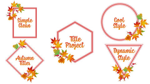 Autumn Titles Motion Graphics Template