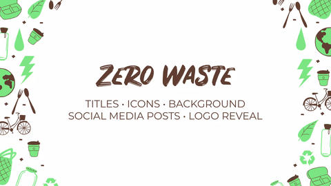 Zero Waste. Hand Drawn Pack After Effects Template