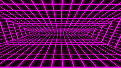 Purple retro-futuristic 80s synthwave grid background Animation