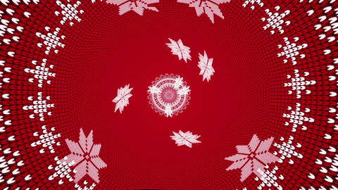 Abstract VJ Loop Style Animation Of A Knitted Christmas Scene With Stars And Patterns Looping Animation