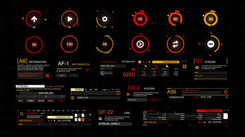 Techno hud After Effects Template