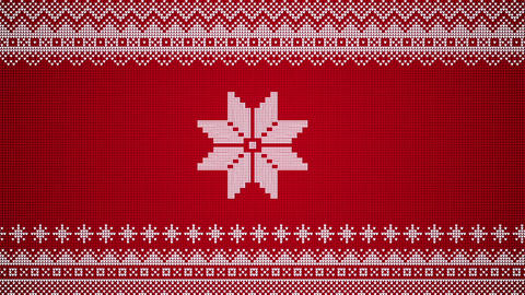 Christmas Stars Move Horizontally In A Knitted Christmas Sweater Style Looping Video Background Animation