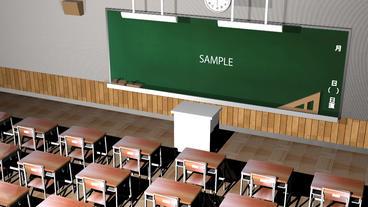 教室アニメーション(テキスト付き) After Effectsテンプレート