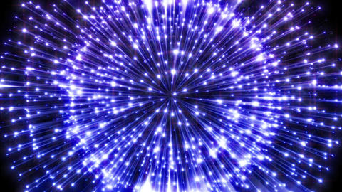 Happy And Joyous Looping Animation Of Glowing Blue Lights With Light Streaks Animation